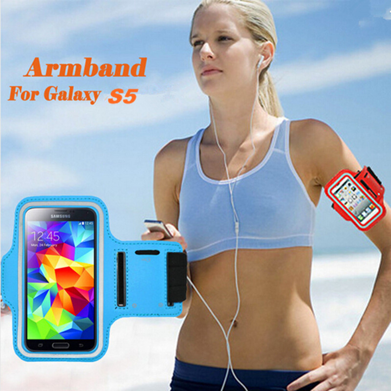 Outdoor Running Bags Phone Sports Jogging Gym Arm Band Armband Pouch Mobile Holder Case Cover for Samsung Galaxy S5