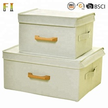 Factory sale fabric storage box with cover