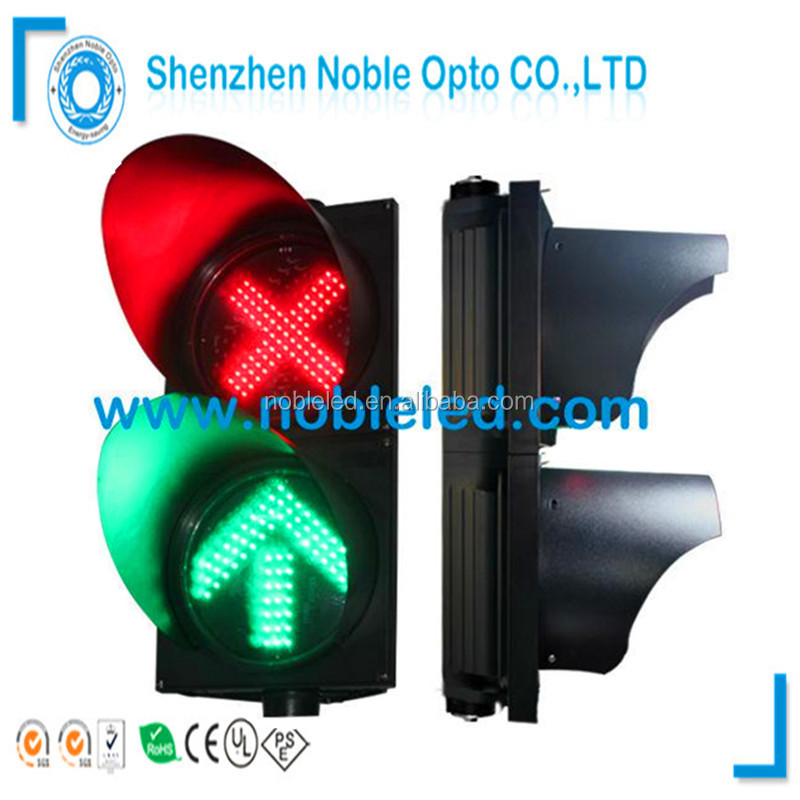 Road Safety Sign IP65 200mm PC Road Sign Traffic Light