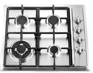 60cm Side Control 4 burner Stainless Steel Gas Cooker
