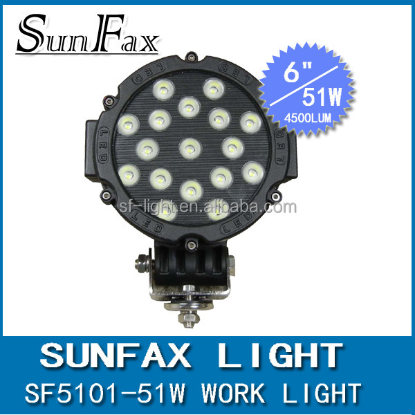7 inch 12V 24V 51W led working lamp 4x4 accessories , good quality 12w led driving light , led off road light bar