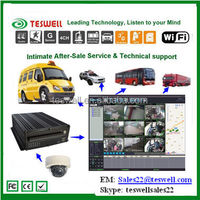 4-CH 3G real-time school bus MDVR support 2TB SATA 1tb internal HDD, high resolution