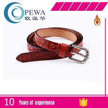 Trading company and factory mans cow leather embroidely bead belt.