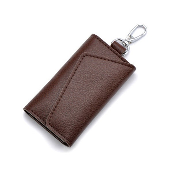 Custom Men Women Genuine Leather Car Keychain Holder Wallet Key Wallets With Your Own Logo