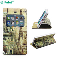 Hot Selling Folio Effiel Tower Flip Leather Case For iPhone 6 6s 6plus with Stand Holding
