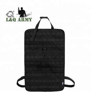 Tactical MOLLE Car Seat Kit Mat, Car Seat Back Vehicle Panel Car Seat Cover Protector