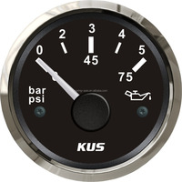 52mm generator Oil pressure gauge 0-5 bar/0-10bar with backlight
