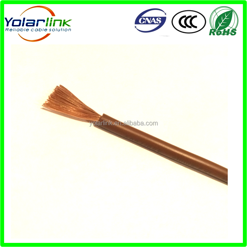 Factory Manufacture PVC insulated cheap electrical <strong>wire</strong> 2.5mm2, Brown