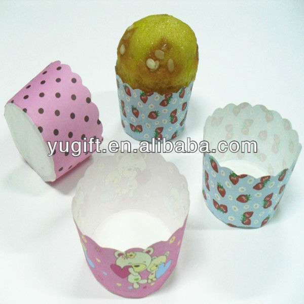 Colourful souffle paper baking cups