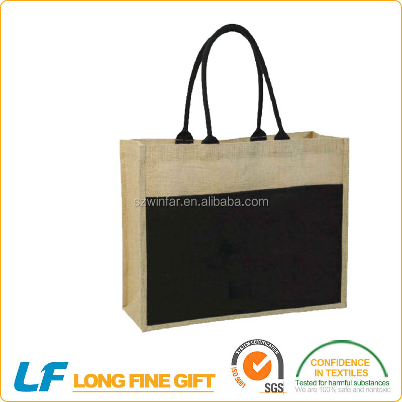 Promotional jute woven any Material shopping bag