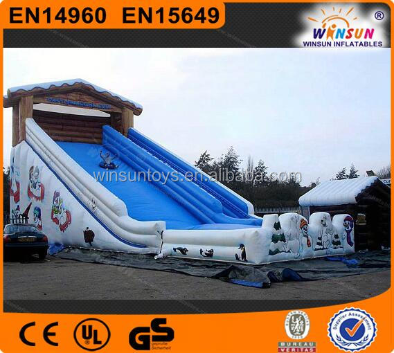 Commercial Toboggan Run inflatable slide giant snow slide,snow tubing slide