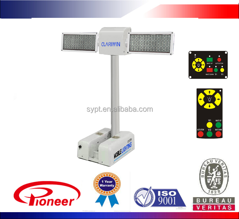 12v/24v vehicle mounted telescopic mobile lighting system with camera, LED,metal halid, Xenon lamp optional