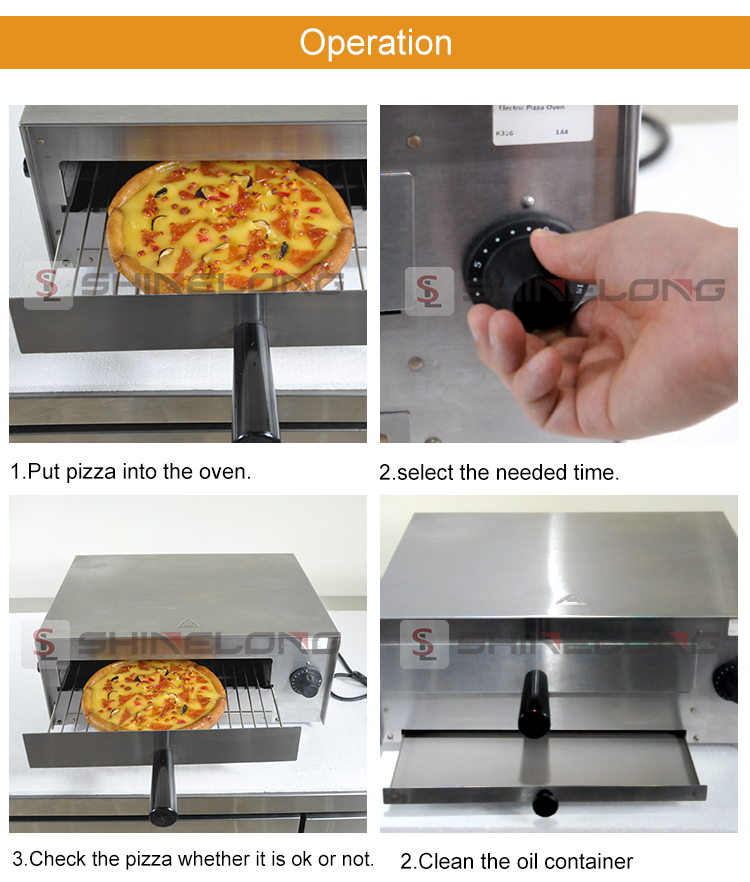 K316 Bakery Equipment Good Price Electric Pizza Ovens For Sale