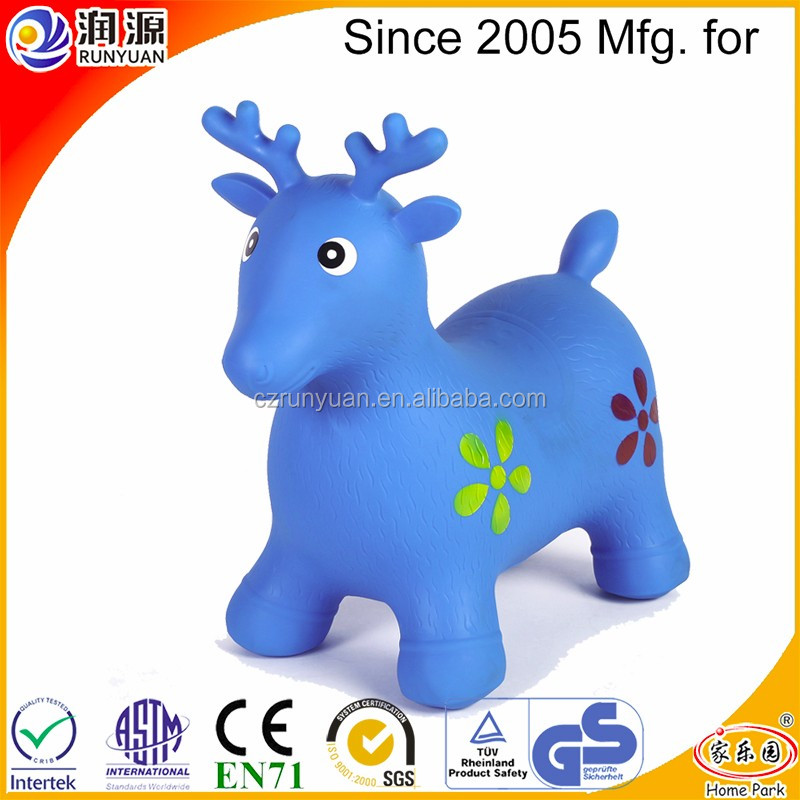 inflatable bouncing deer skipping animal with eco-friendly PVC normal hopping deer for children's Christmas gift