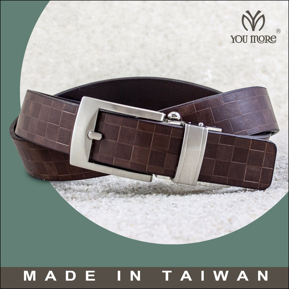 Premium custom blank automatic buckle carbon fiber genuine leather belt