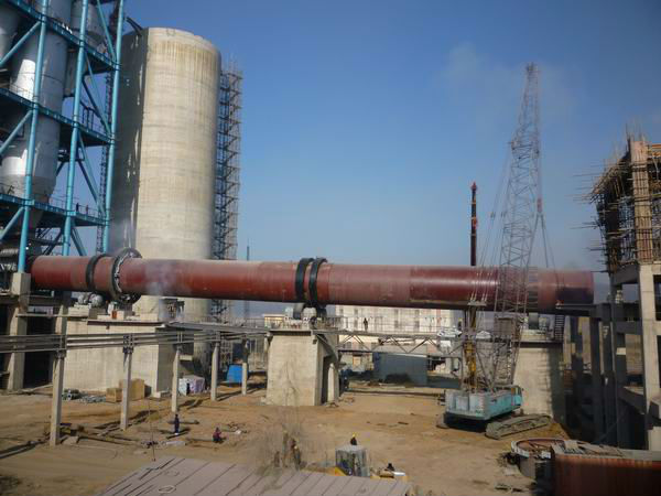 Hot sale in middle East refractory brick rotary kiln