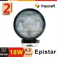 "Wholesale cheap price 18w led motorcycle auxiliary light 4.3"" round led headlight"