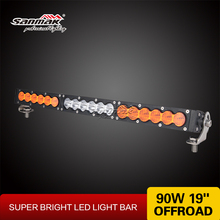 Off Raod LED Lights 12v 90w Amber LED Work Light Barras 4x4 Off Road LED Light Bar 19""