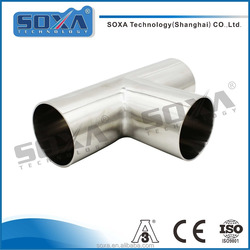Manufacturer price 3A sanitary stainless steel pipe fitting weld equal tee