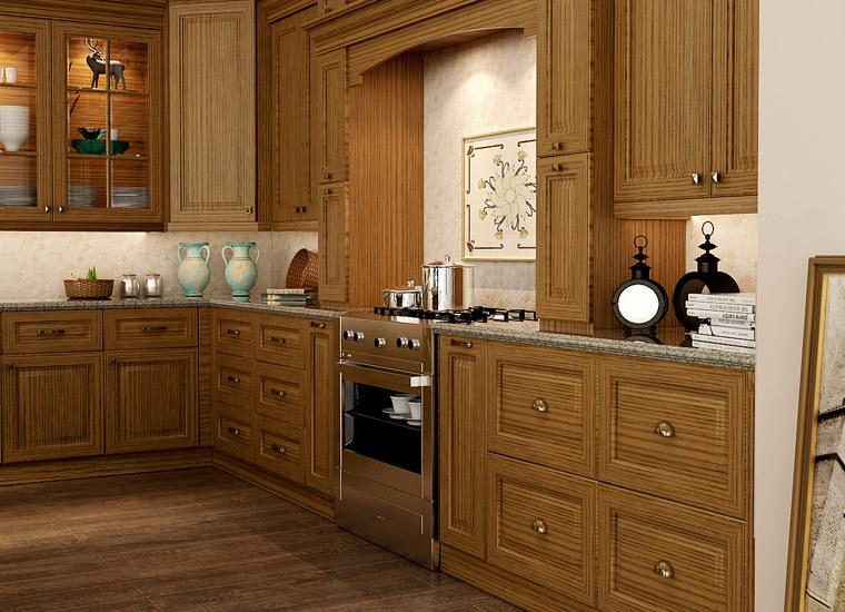 Guangzhou canton feria de madera armarios cocina moderna cocina ...
