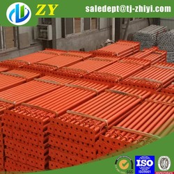 ZHIYI Square base painted trench shoring / scaffolding jack