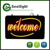 Advertising Billboard Chinese Welcome Led Neon Sign Sample Welcome Business Letter Signboard
