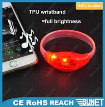 2016 new trend product sound activated light up led bracelet