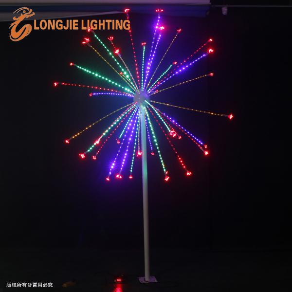H:3.0m outdoor led Christmas fireworks light flashing with controller