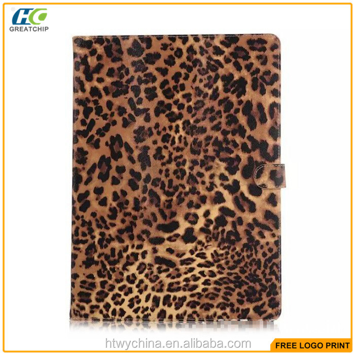 Sexy Leopard PU leather Case for iPad Pro, Hot Sale Tablet stand Case cover for iPad Pro 12.9 inch Case Cover