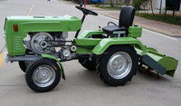 Russia hot selling four wheel minitractor /12hp 15hp motoblok price
