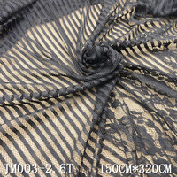 1.5 meter chantilly black leavers french wedding lace fabrics