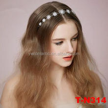 Shiny flower crystal pearl center tiara crown wedding bridal hair headband