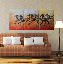 New Design Handmade abstract horse painting