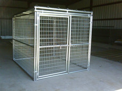 Galvanized Dog Kennels Welded Kennels For Dog Breeding