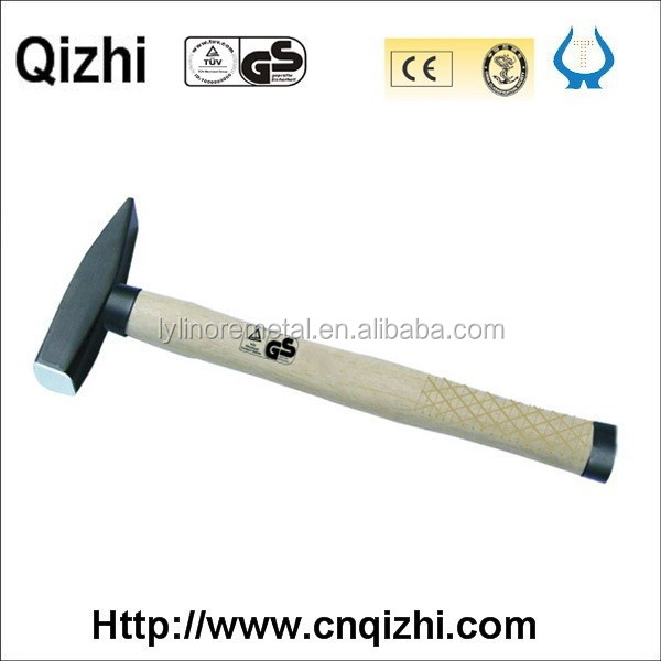 Gs certificate high quality forging Machinist hammer with checked wooden handle