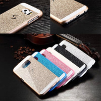 For Samsung Galaxy S6 Edge Bling Bling Glitter PC Hard Cell Phone Case