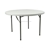 ZL-Y122 4FT Round Fold In Half Camping Picnic Cheap Plastic Table
