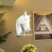 Hight quality resin horse head sculpture for wall decorations