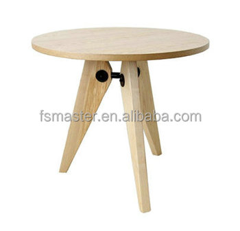 solid wood round table ash veneer finishing dinning table replica