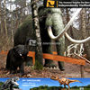 My dino-rubber base playground park elephant sculpture decorative elephants