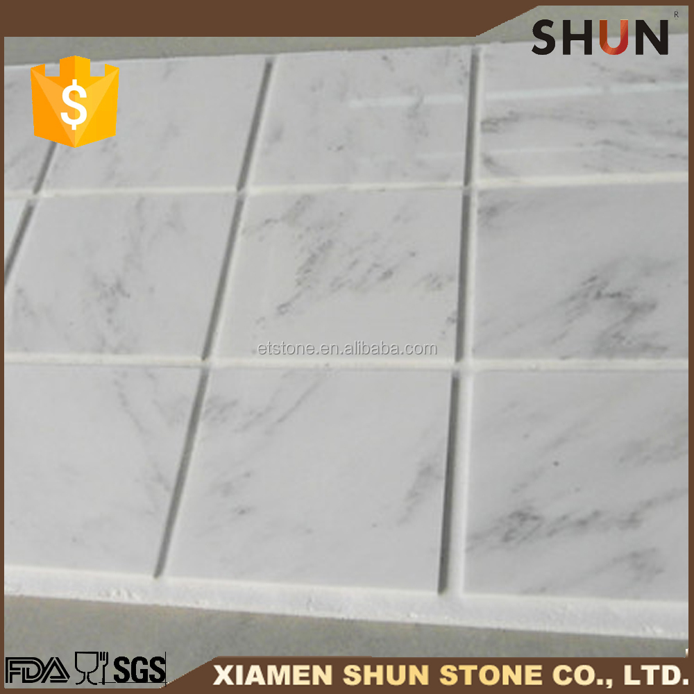 White marble with black veins for marble flooring design ,Italian marble size, factory marble flooring design