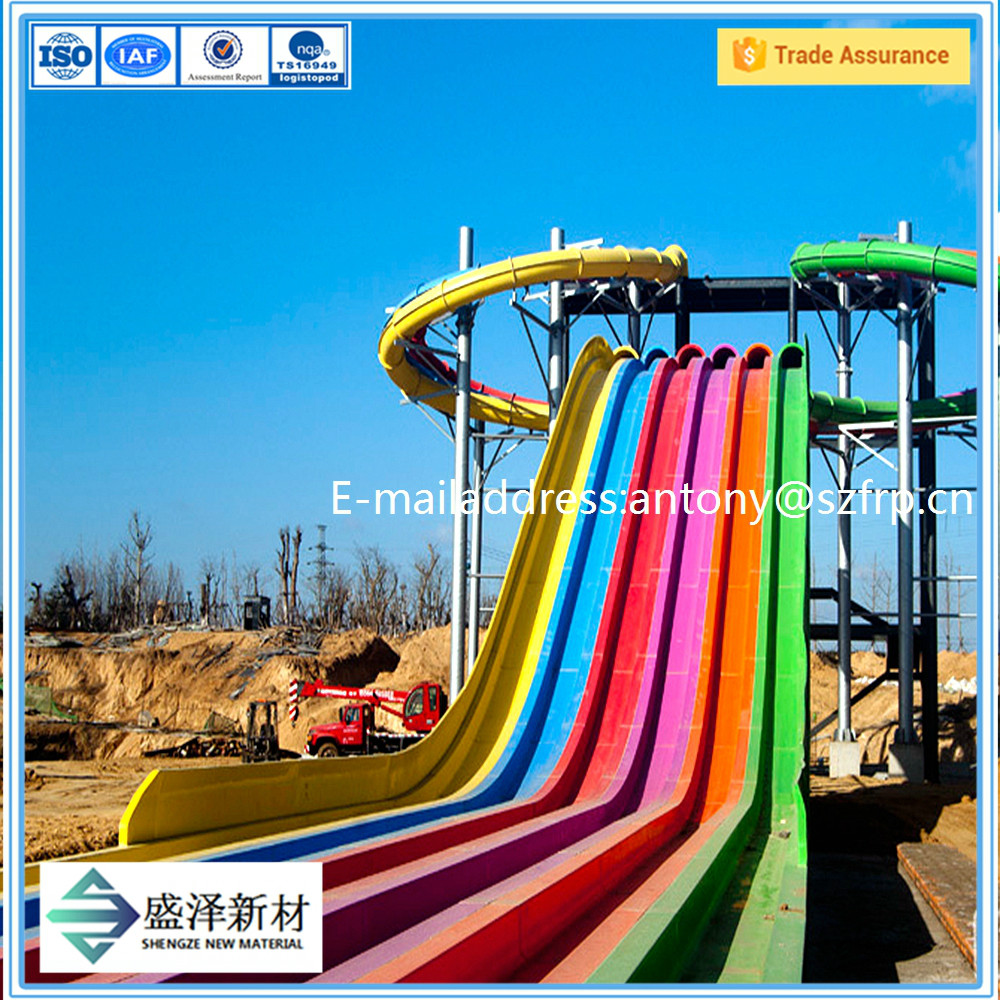 glass fiber water slide,water park,fun slide with good quality