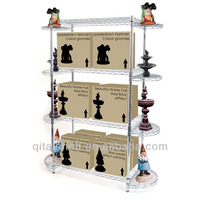WHALE multi-purpose multilayer adjustable free standing wire display racks