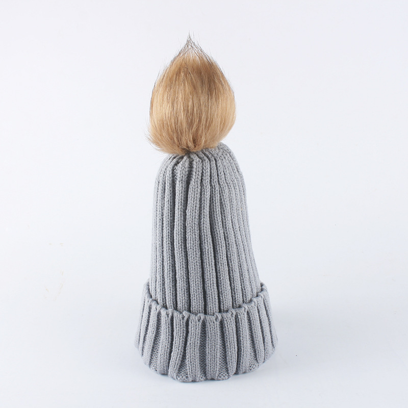 High Quality Soft Comfortable Pompom head bonnet