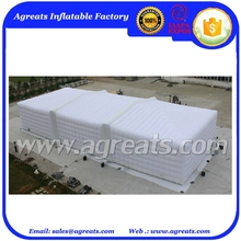 White printed outdoor advertising inflatable tents building, inflatable rectangle tents on sale S1079