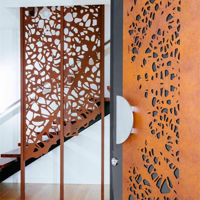 corten steel metal modern gates design and fences