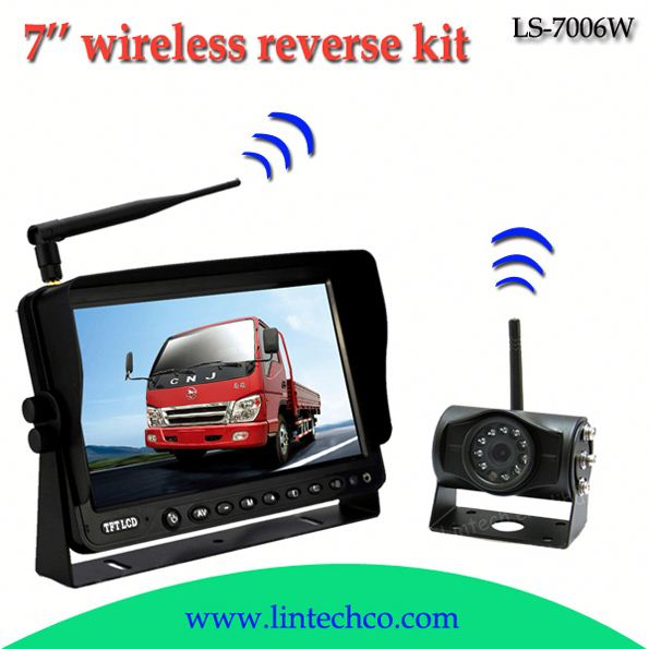 China night vision wireless 7inch mirror monitor car rearview system with camera LS-7006W