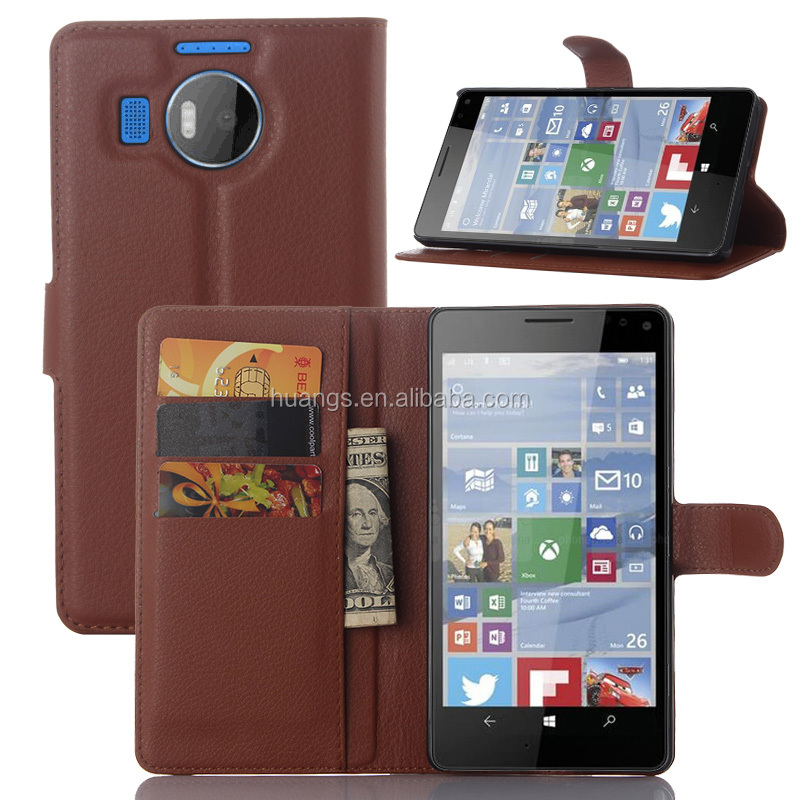 New products 2015 innovation product Luxury pattern lychee phone cover back cover for nokia lumia 950 xl made in china