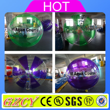 Human size rolling inside inflatable running ball water walking ball for amusement
