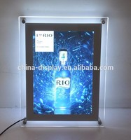 Hot sales advertising acrylic slim light box crystal solar powered led display